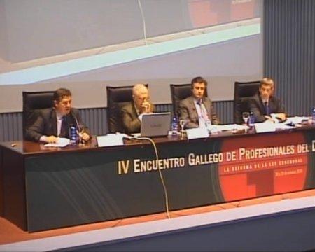 Segunda Mesa Redonda - IV Encontro Galego de Profesionais do dereito concursal
